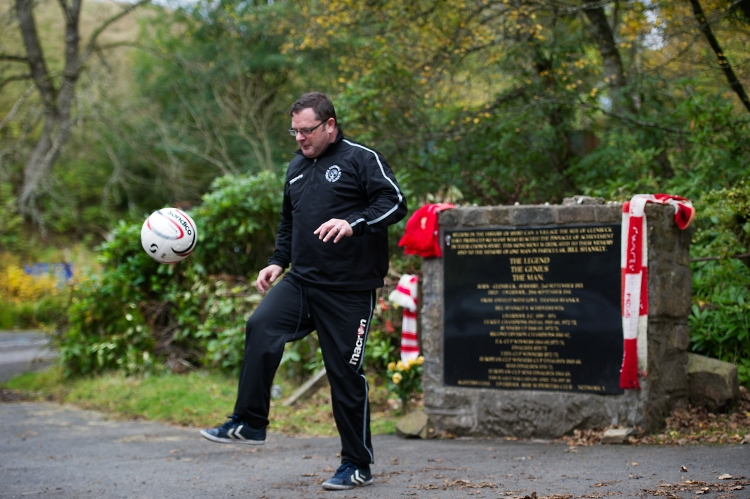 Robert Gillan at the birthplace of Bill Shankly, the former mining village of Glenbuck. Picture: John Devlin/The Scotsman